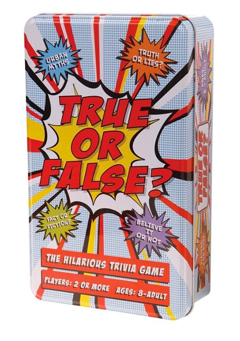 True Or False Trivia Game