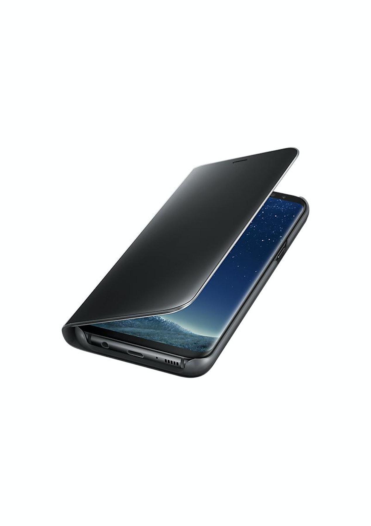 the latest e2217 5d1e4 Samsung Galaxy S8+ Clear View Stand Cover Case - Black