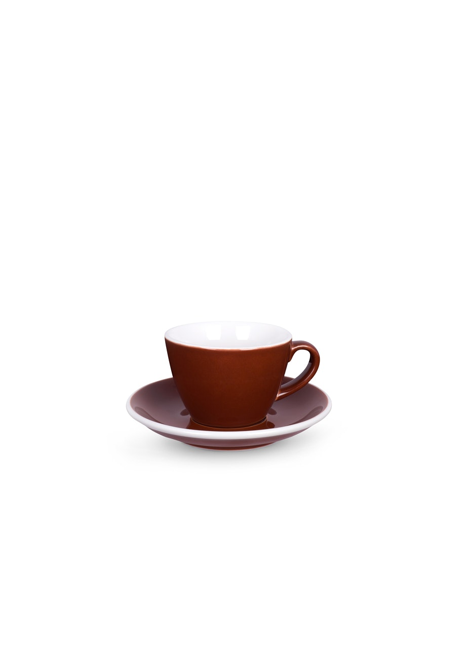 ACME - Set of 6 Brown Flat White and Saucer Set
