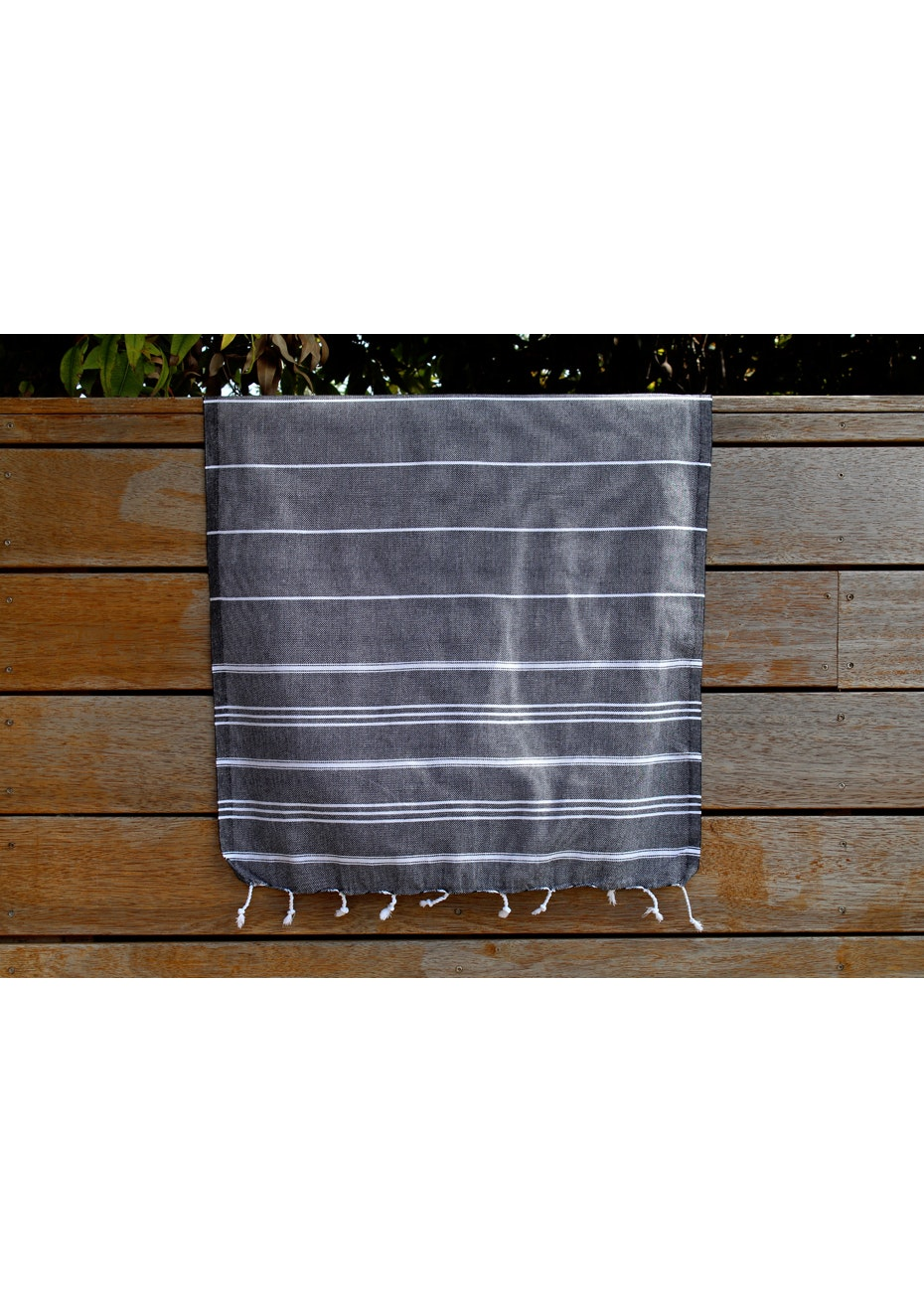De La Mer Black Small Turkish Towel