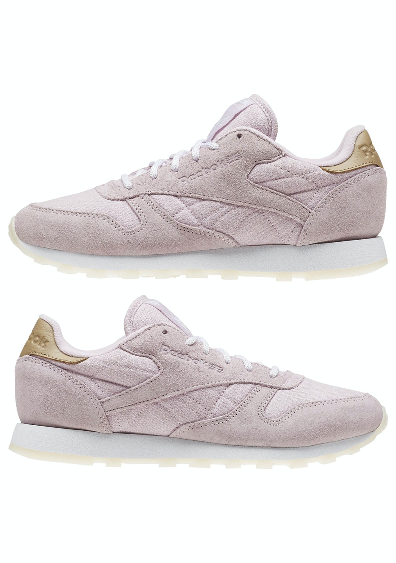 03b68d8853426 Reebok Womens - Classic Leather Sea-Worn - Shell Purple   White - Big Brand  Womens Shoes - Onceit