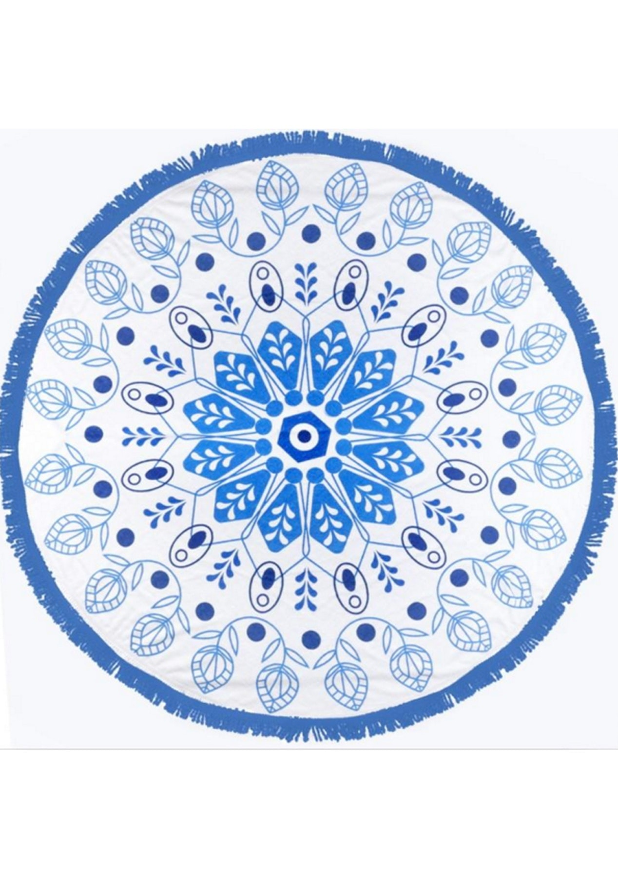 Blue Pods Round Towel