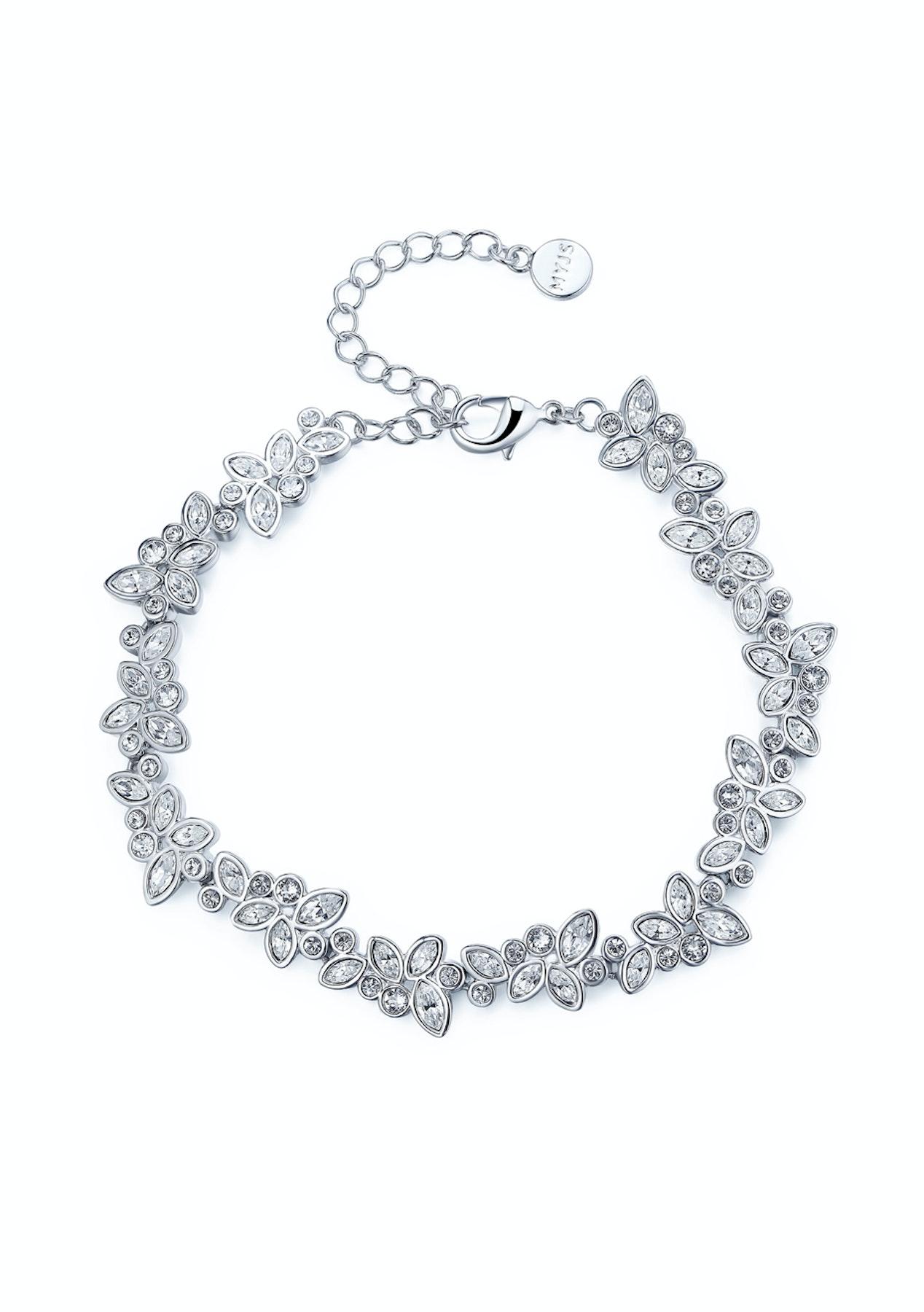 828eab25d4e6 Krystal Cotoure - Diapason Enchanted Bracelet with Swarovski Crystals WGP  MYJS - My Jewellery Store Swarovski Elements Jewellery Under  40 - Onceit