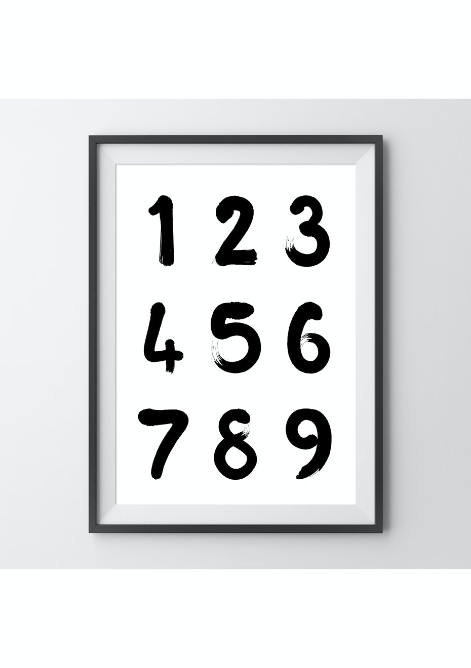 Simply Creative - Numbers - A3 Colour Print