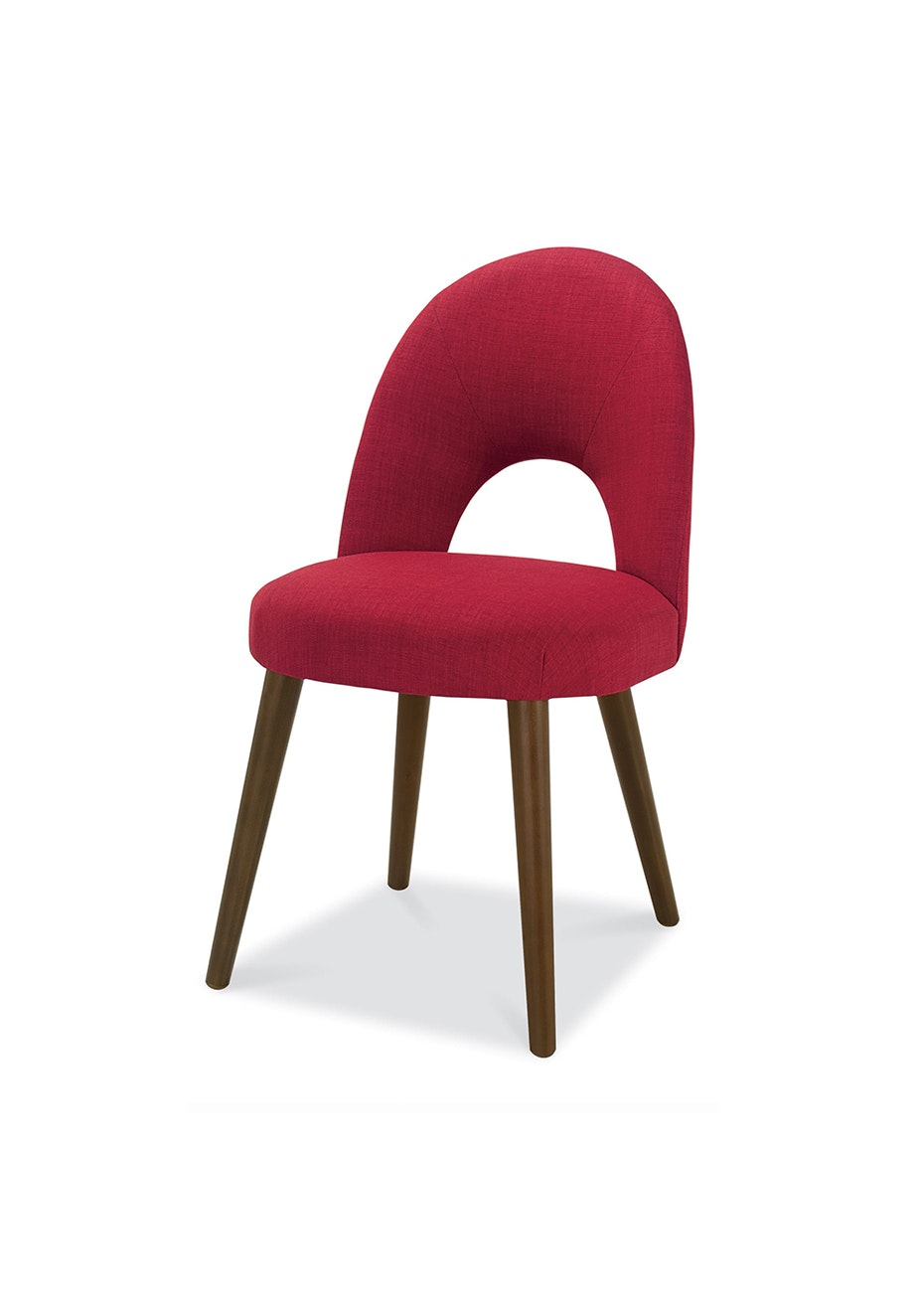 Furniture By Design - Oslo Chair- Walnut and Red
