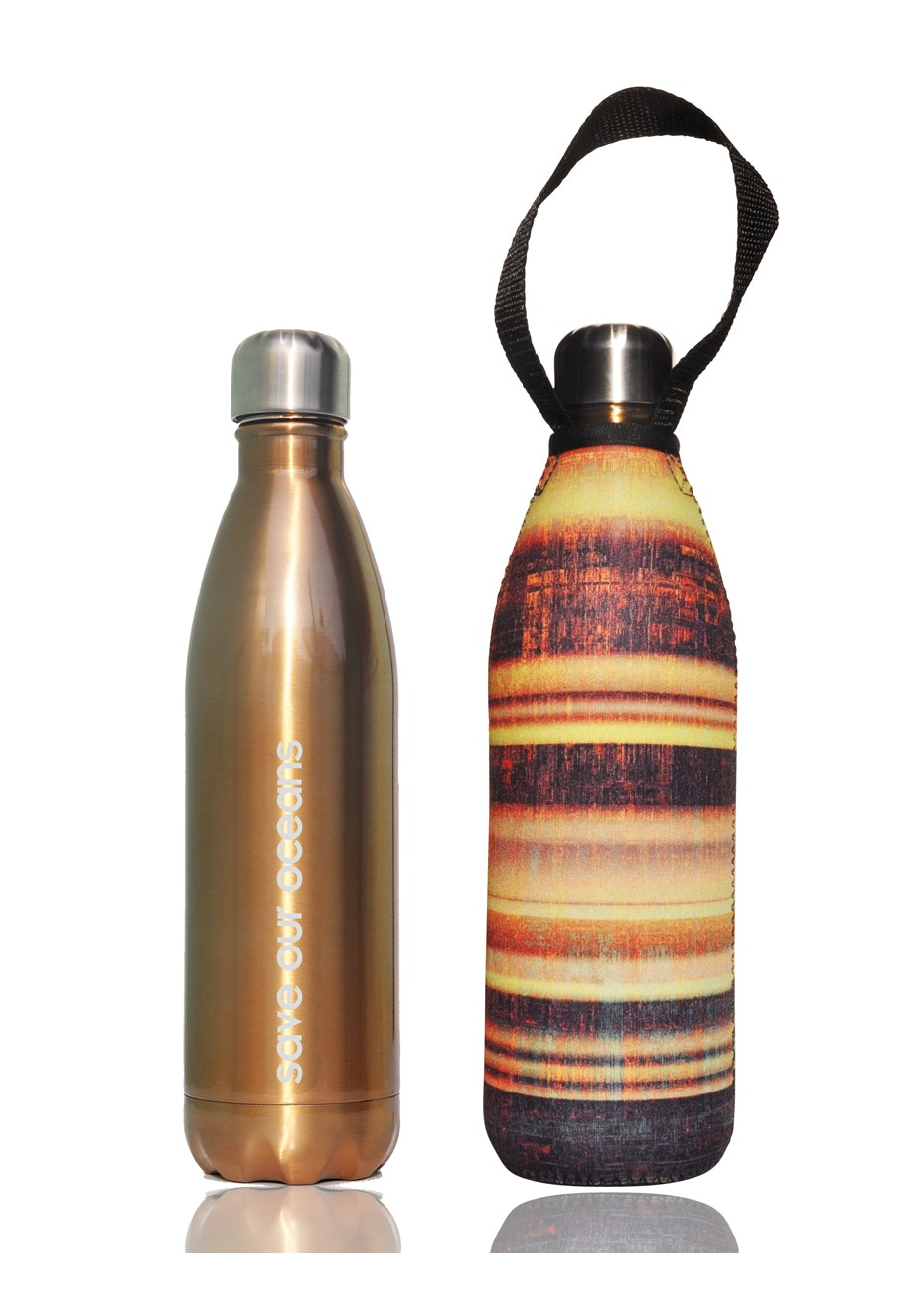 BBBYO - Future Bottle+ Carry Cover  (Beam Print) - 750 ml Gold