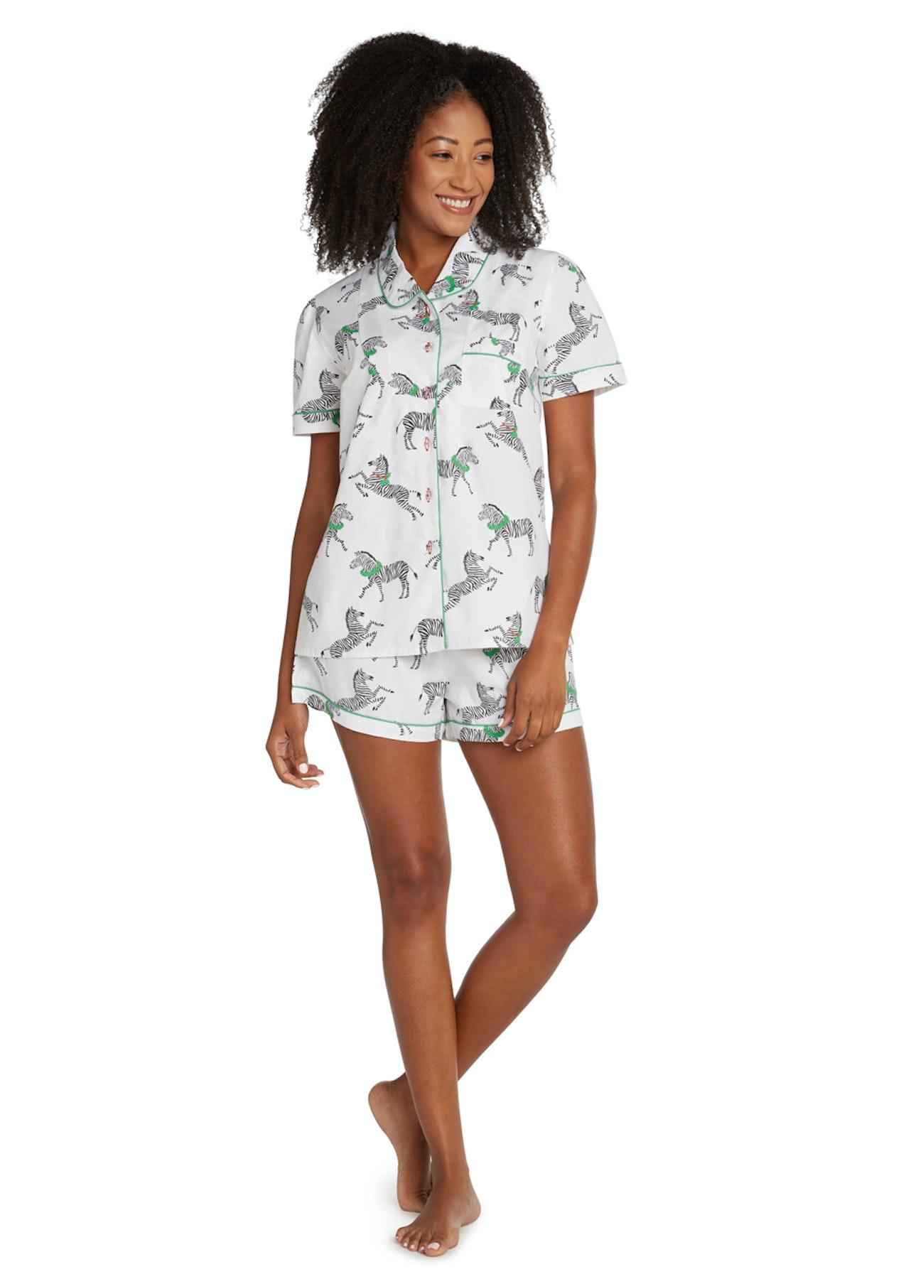 720dc656b0 Sant & Abel - Women - Long Sleeve Shirt & PJ Pant Set - Zebra - Luxury  Sleepwear - Onceit