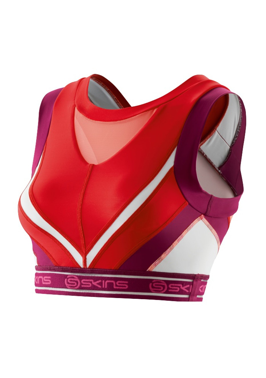 Skins - DNAmic Womens Vest Crop Top Rossa