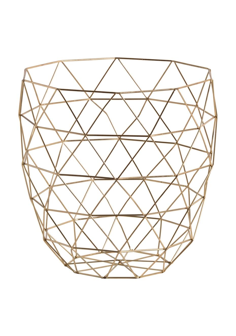 Jason - Gold storage basket - Gold