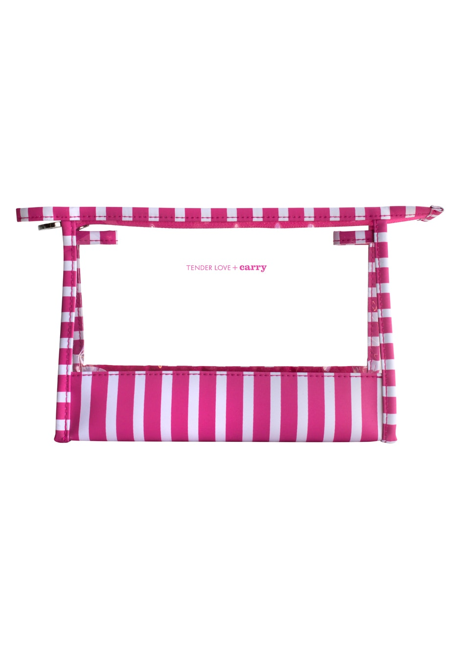 TL+C - The Stripes Medium Holdall - Pink/White