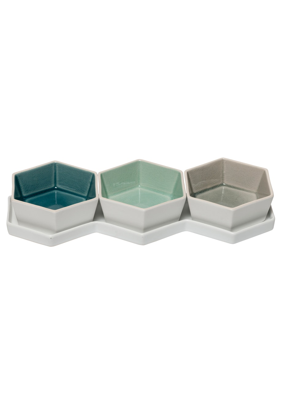 General Eclectic - Hexagon Dip Bowl Set