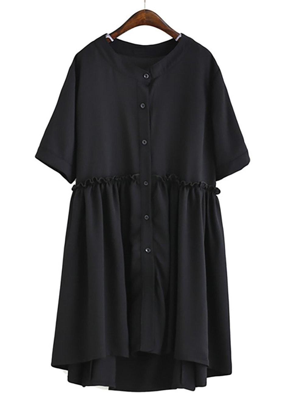 Lux Floaty Dress  - Black