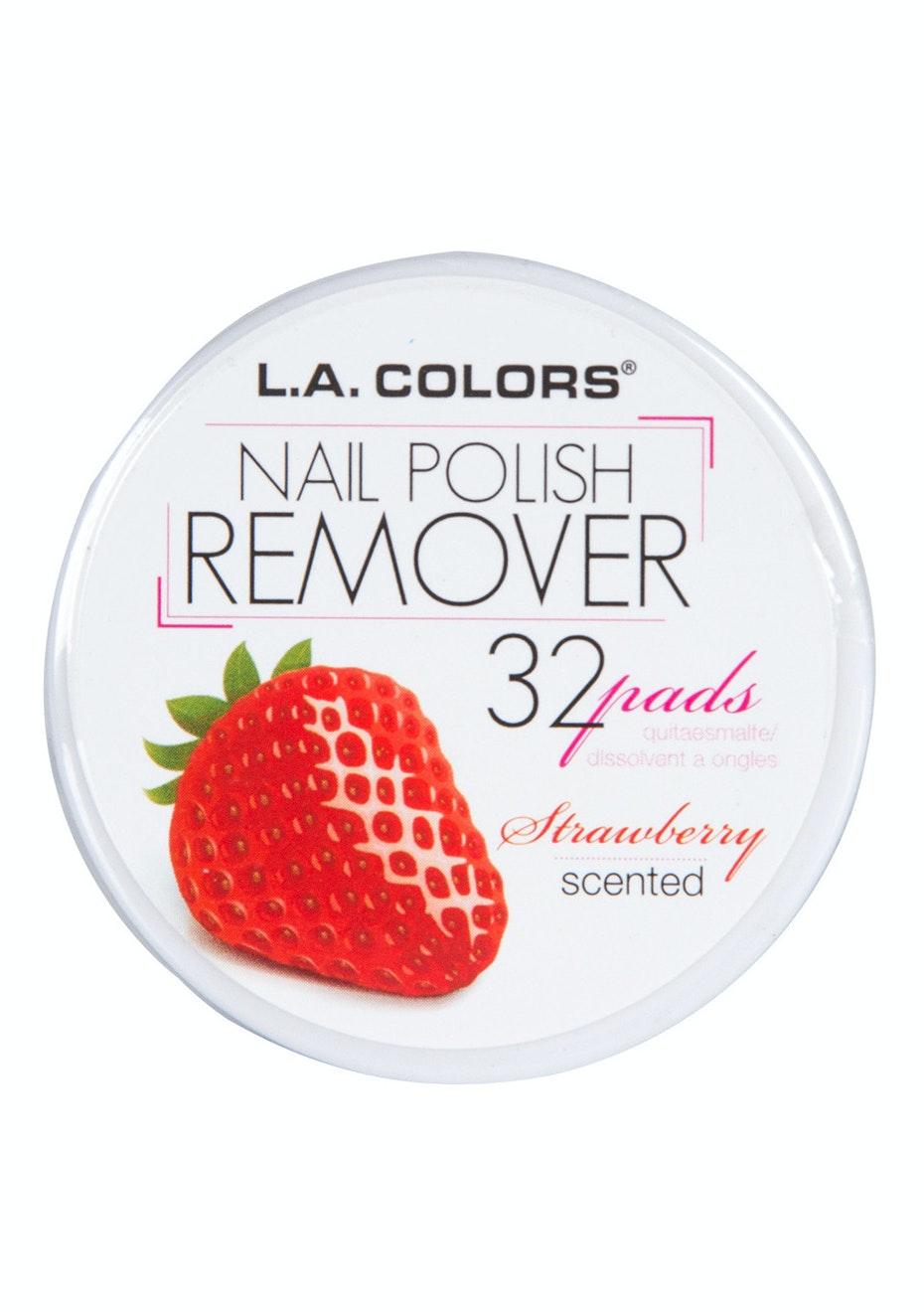LA COLORS - Nail Polish Remover Pads  -  Strawberry