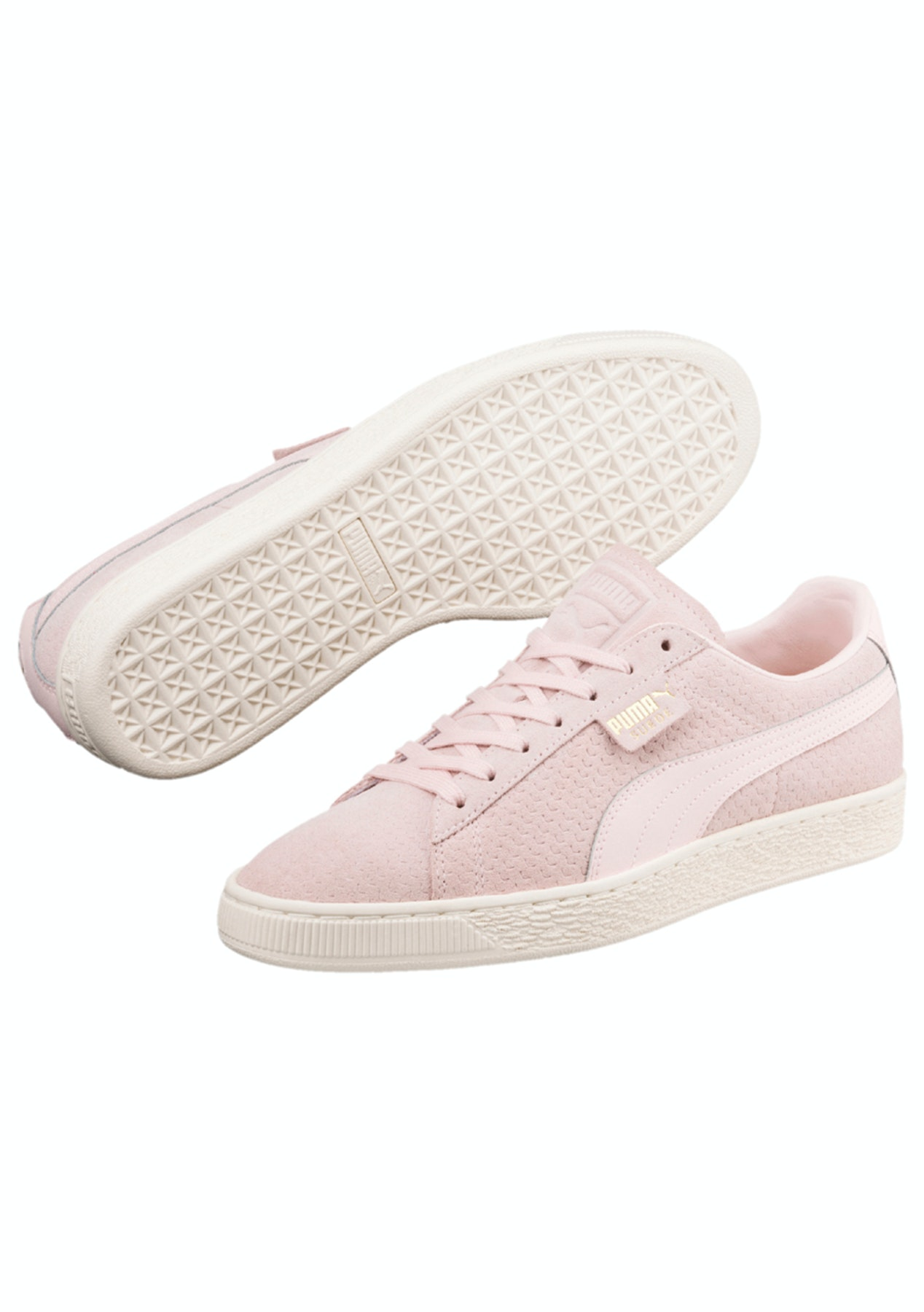 separation shoes abd2a 3e45f Puma Womens - Suede Classic Perforation Pearl