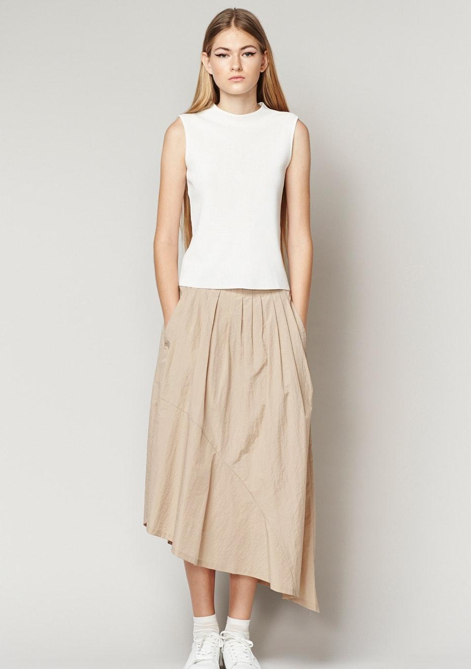 Achro - Asymmetrical Skirt - Beige