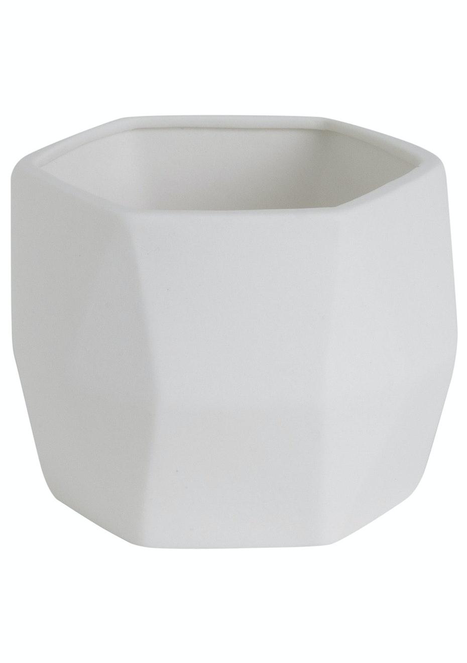 Jason - Ceramic Geormetric Vase - White