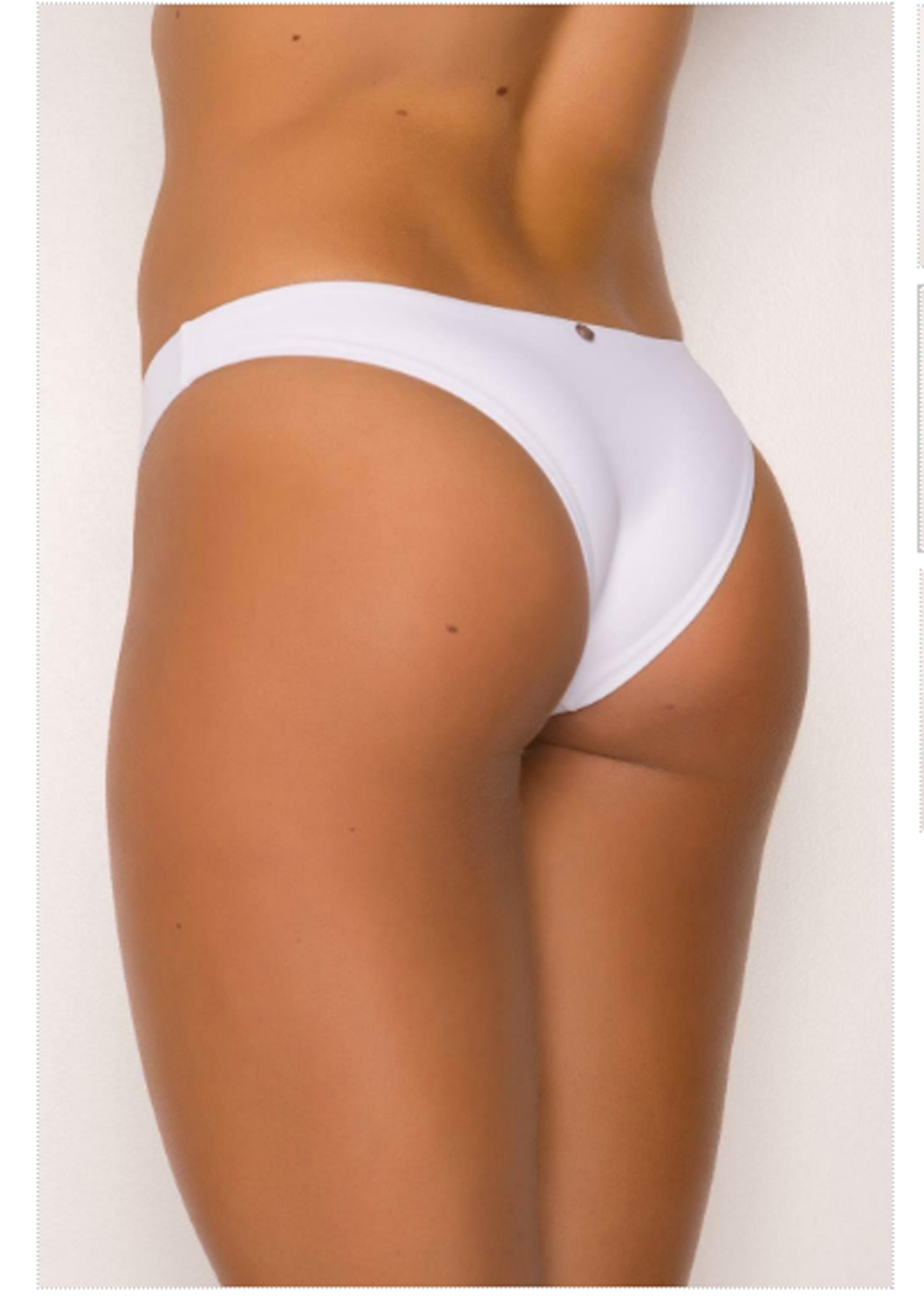 bde6b53b10d96 Sheridyn Swim - High Cut Bottoms White - Sheridyn Swimwear - Onceit