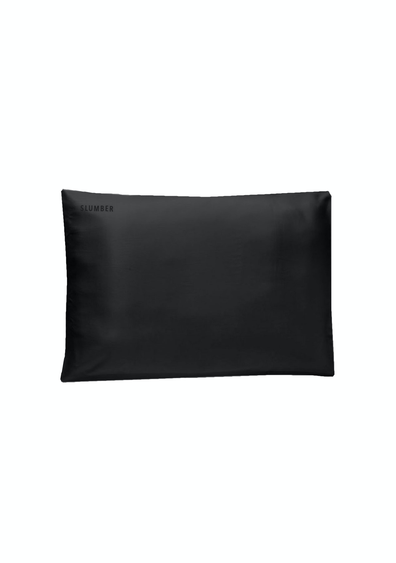 SLUMBER 100%  SILK PILLOWCASE - TWO PACK - Black