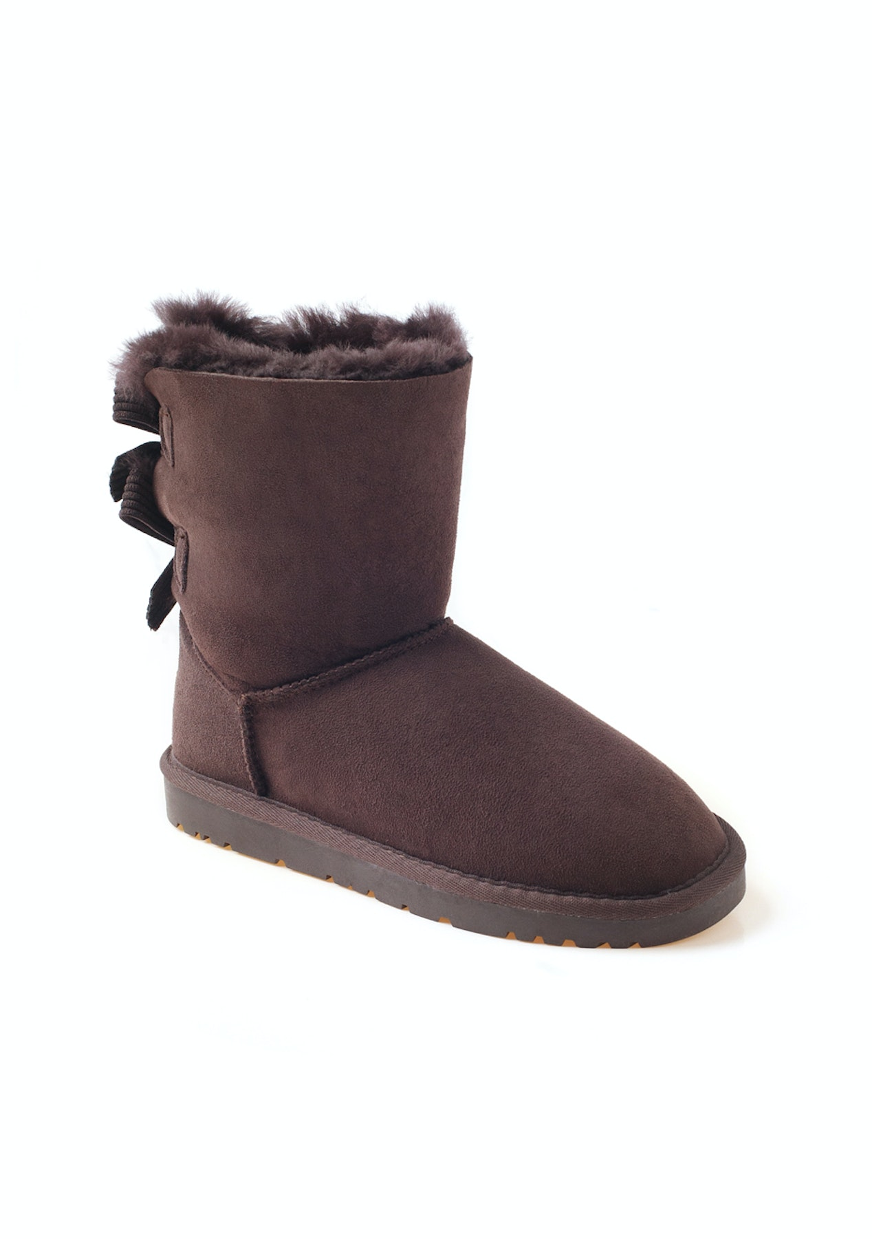 c3195fc945cdd Ozwear - Ugg Bailey Bow Corduroy Boots (Water Resistant) - Chocolate - Half  Price Ozwear Uggs - Onceit