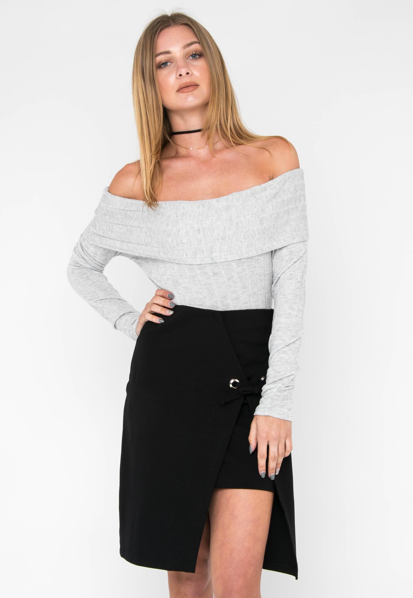 Solid Wrap Skirt - Black