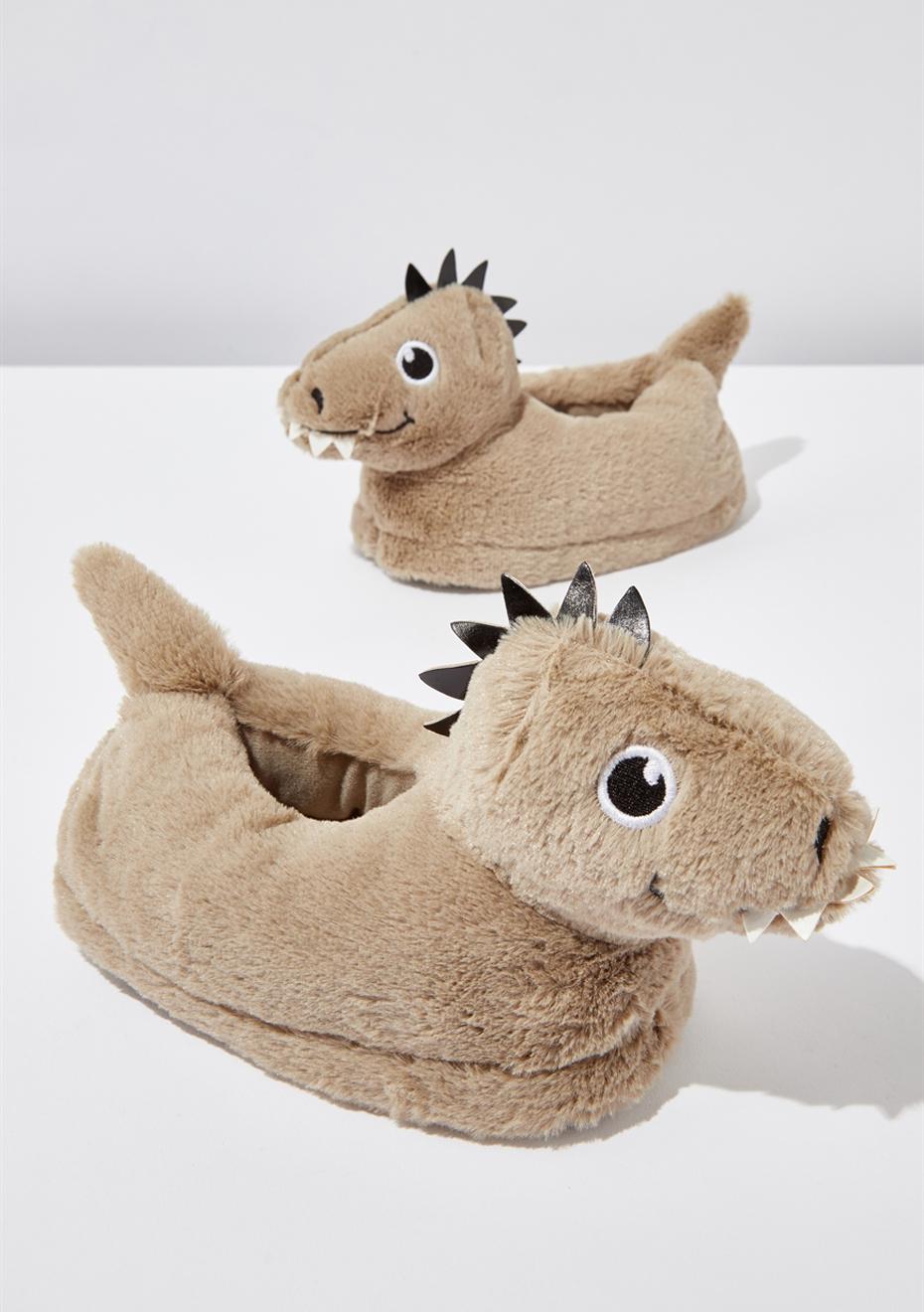 Novelty Slipper/Dino - Cotton