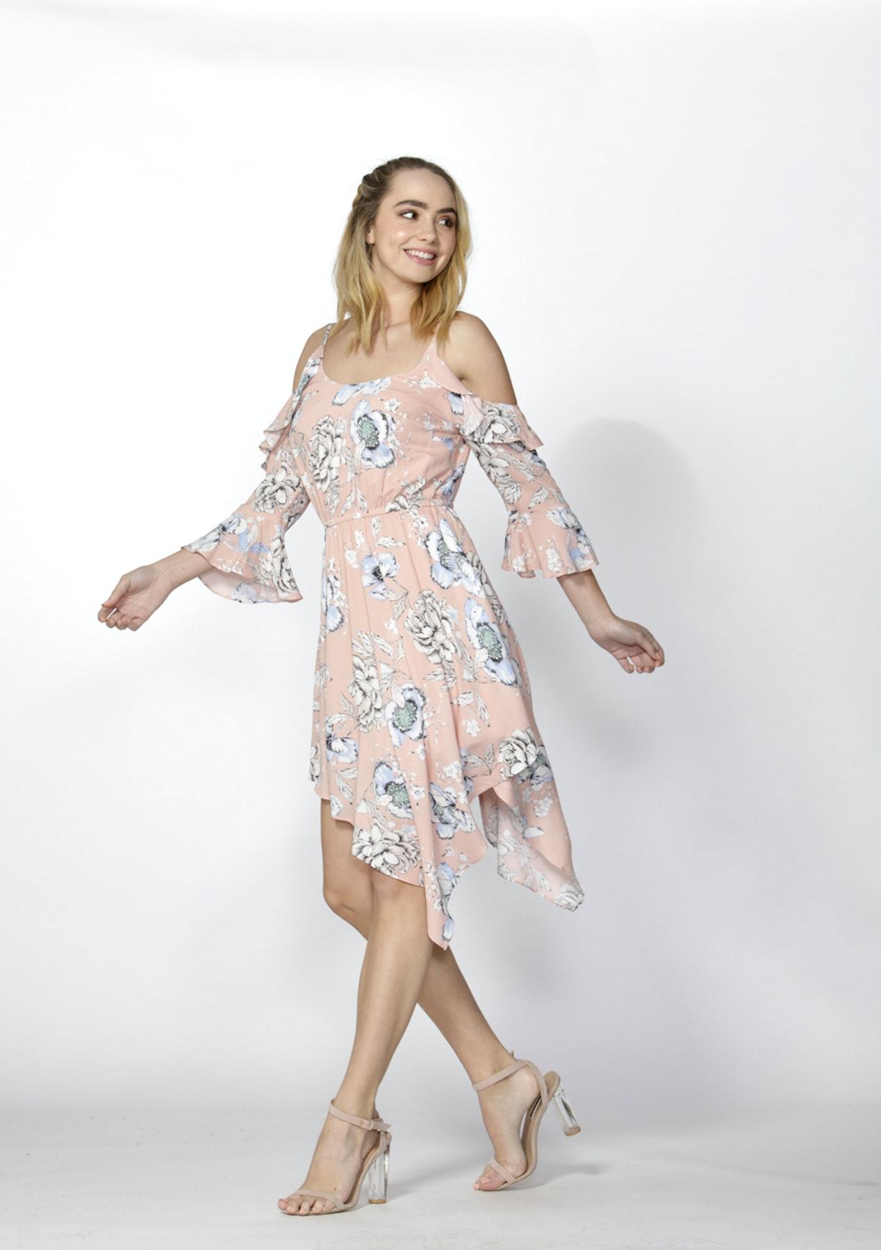 12c3020c09 Sass - Garden Party Flutter Dress - Garden Party Print Blossom