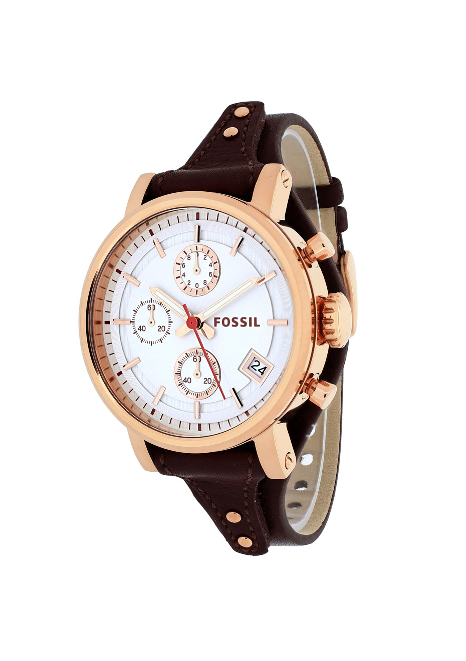 Fossil Women's Original Boyfriend - White/Brown