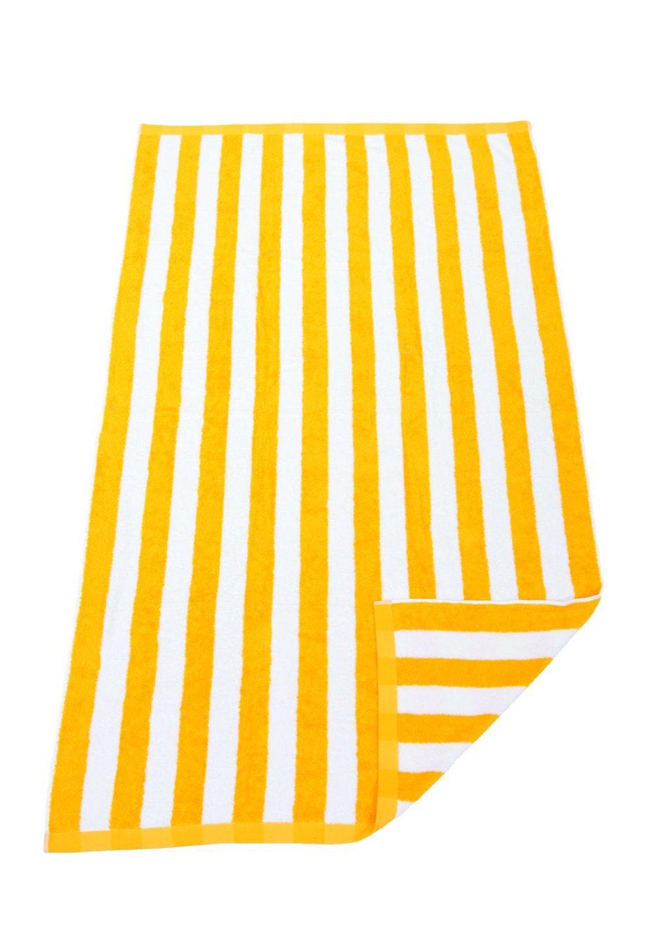 Hawaiian Stripe Beach Towel Yellow/White