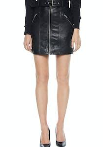 16d2430a562 Bardot - Mini Leather Skirt - Black