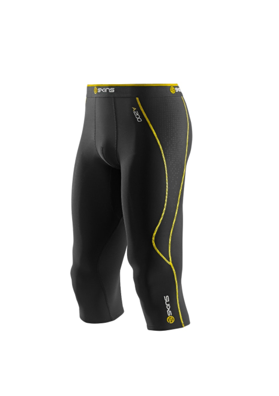 Skins -  A200 Bk/Yellow Thera 3/4 Tight - Mens