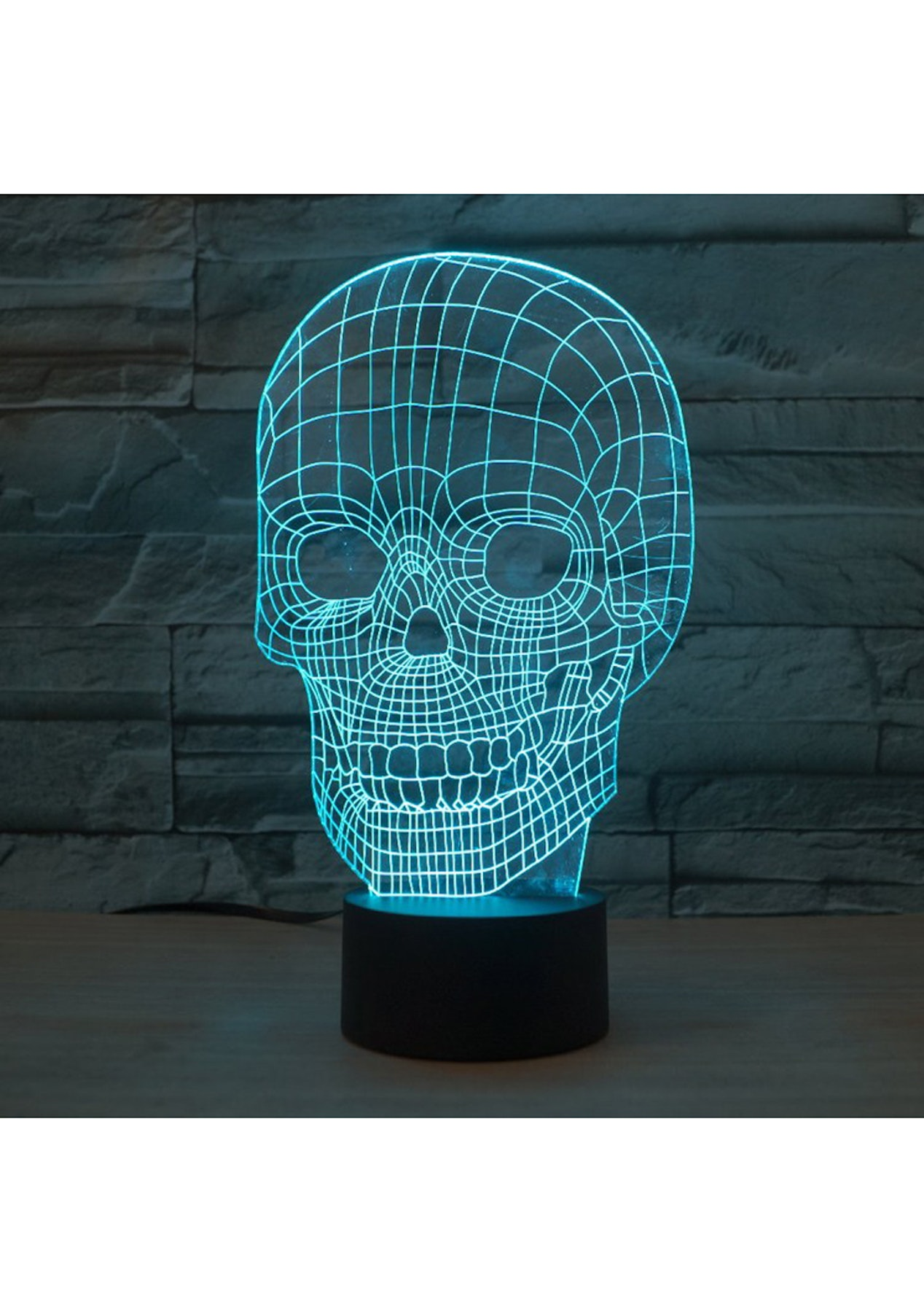 3D 7-Color LED Illusion Light With Remote Control - Skull - Under ...