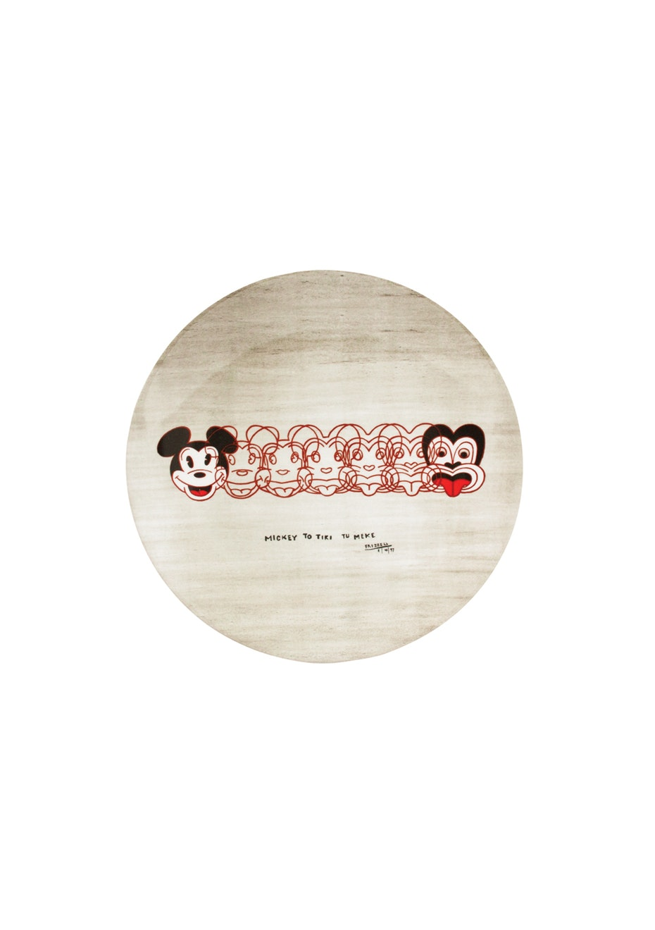 Dick Frizzell - Melamine Plate Frizzell Mickey to Tiki