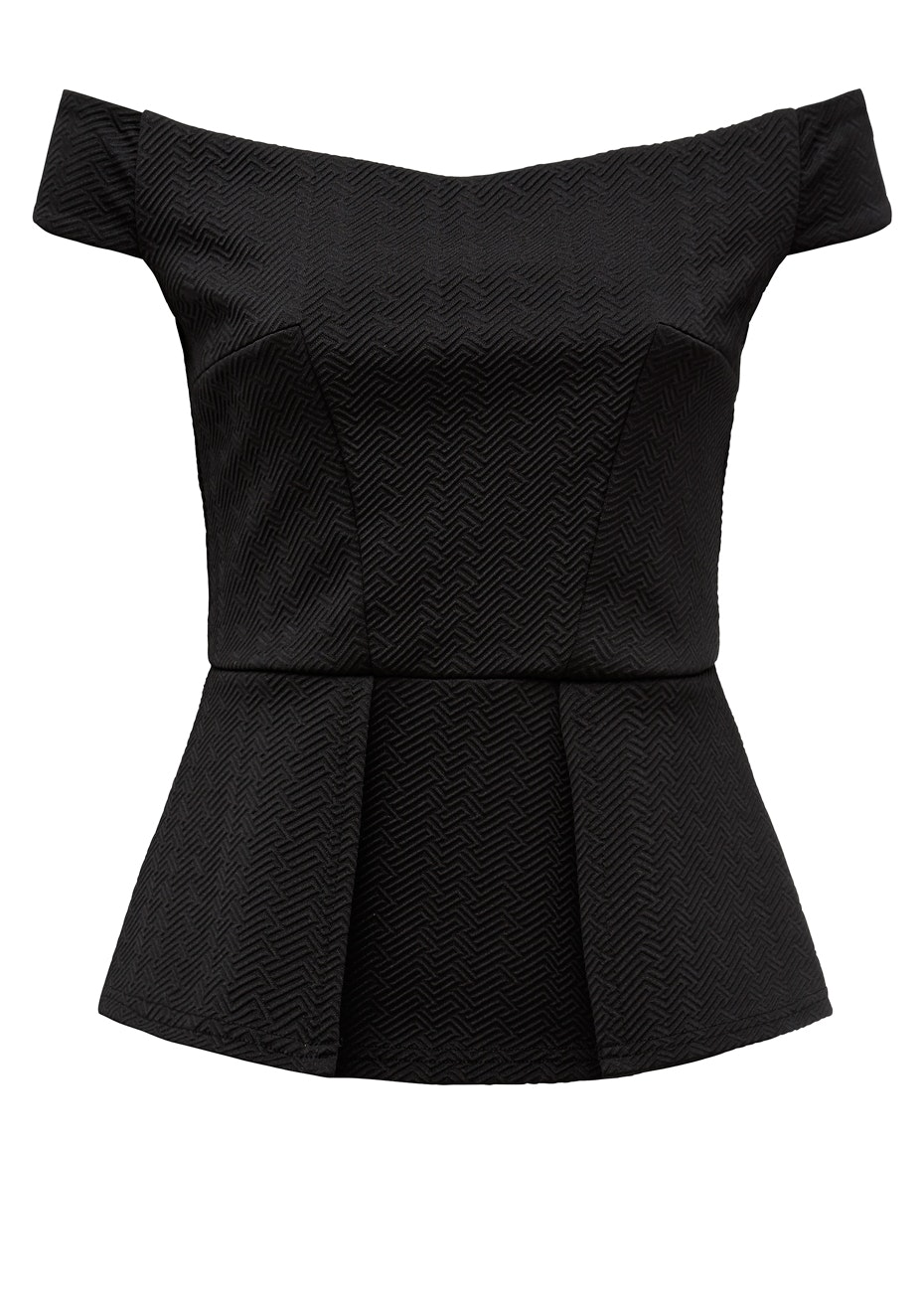French Connection - Off Shoulder Top - Black