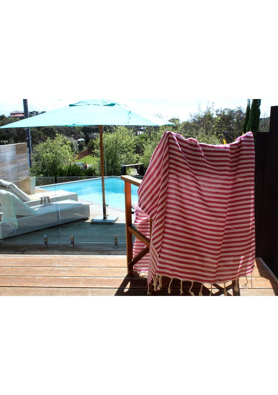 Mediterranean Fuschia Turkish Towel