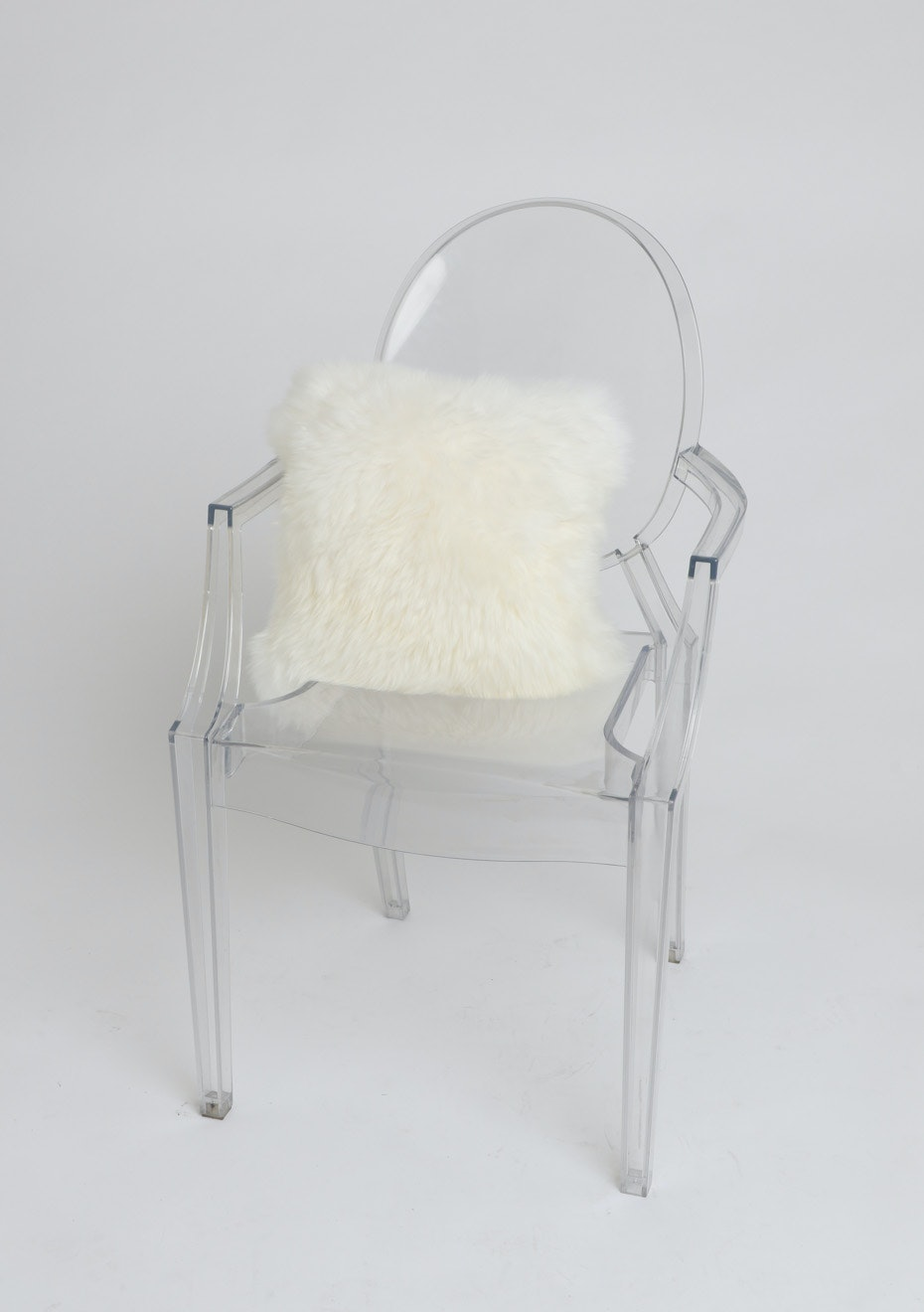 Creamy White Sheepskin Cushion Cover
