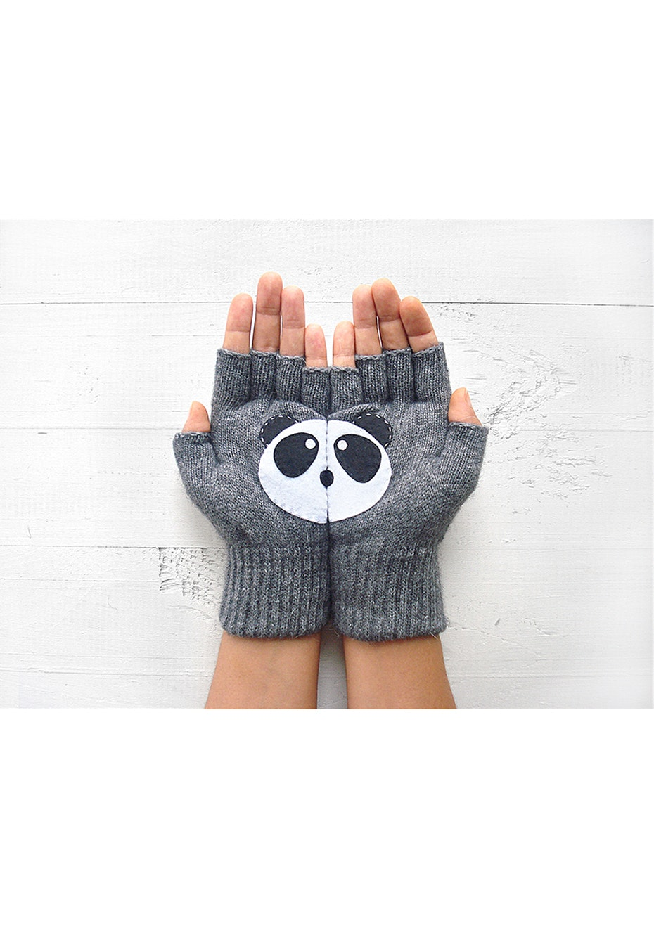 Panda Gloves - Grey