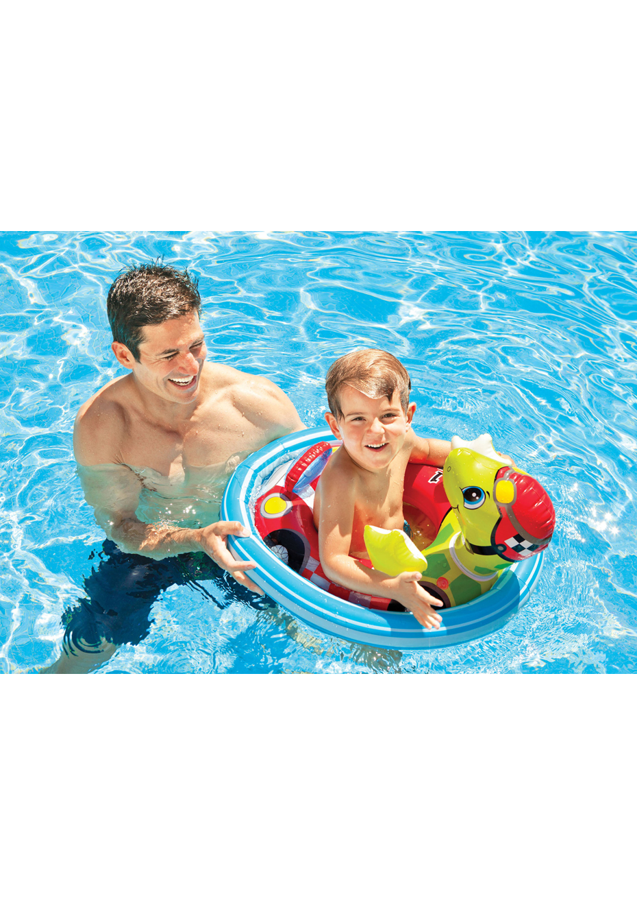 Intex Inflatable See Me Sit Pool Ride for Age 3-4