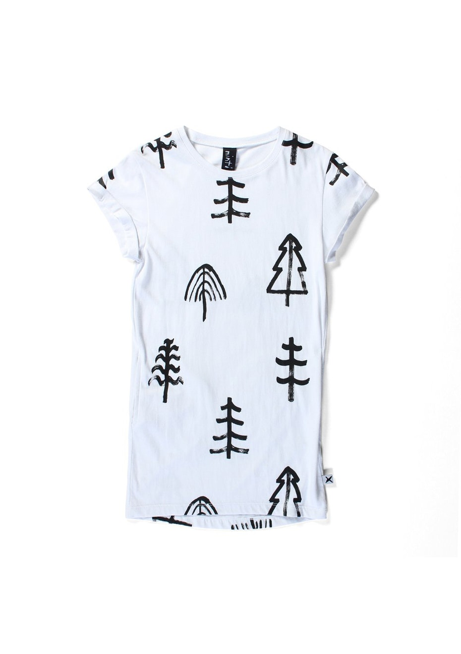 Minti - Trees Please - R/Up Tee Dress - Girls - White
