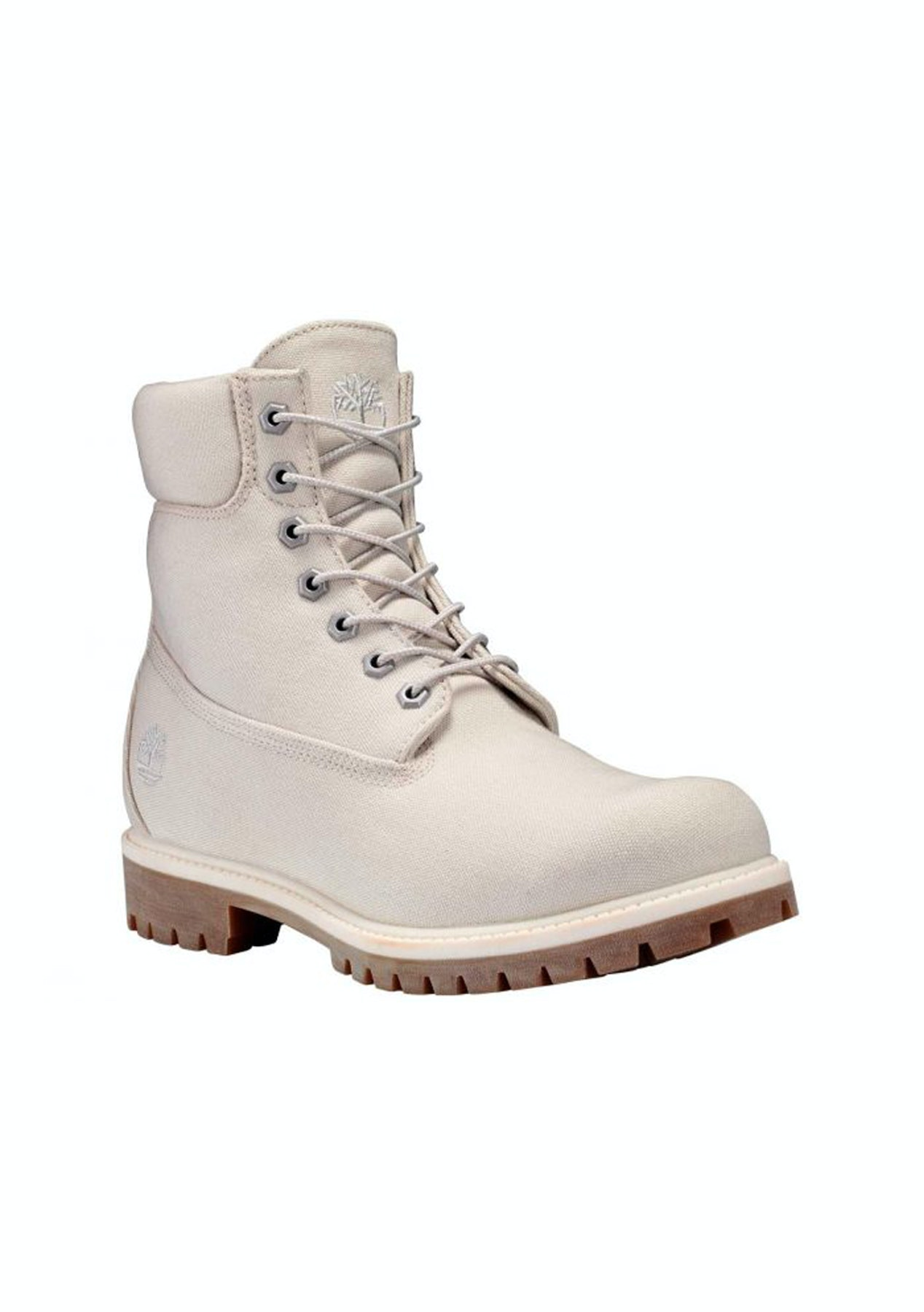 ee38b59c0094 Timberland - Mens ICON 6-Inch Premium Fabric Boot - White - Mens Streetwear  Outlet - Onceit