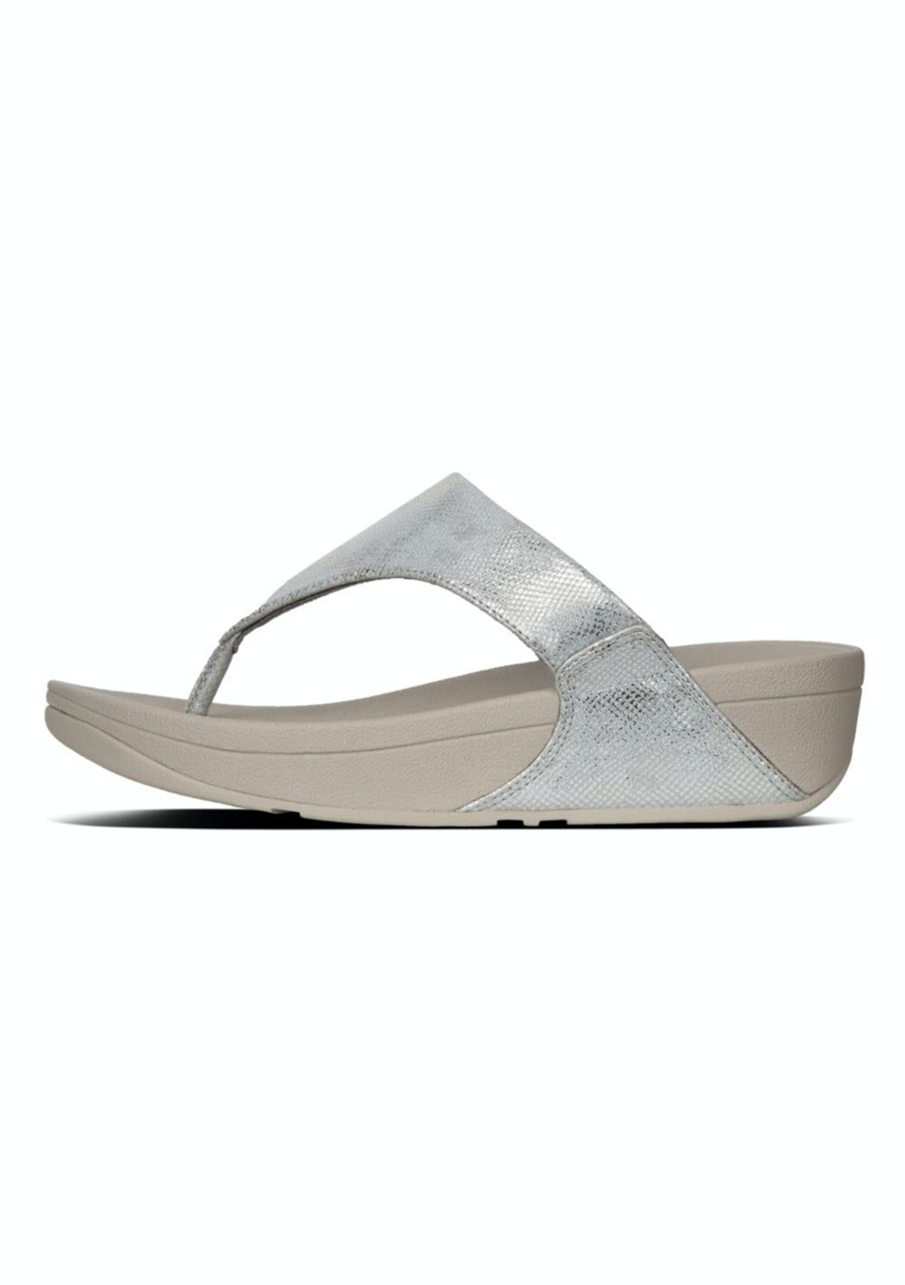 891308f34 Fit Flop - Lulu Toe-Thong Sandals -Silver Shimmer-Print - Fit Flop ...